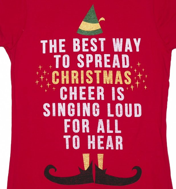 Women's Elf Christmas Cheer T-Shirt