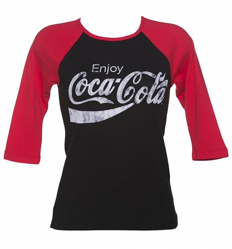 Women's Enjoy Coca-Cola Skinny Fit Raglan Baseball T-Shirt