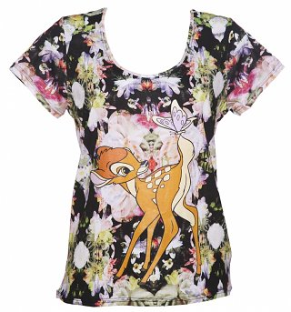 Women's Floral Bambi Disney T-Shirt from Eleven Paris