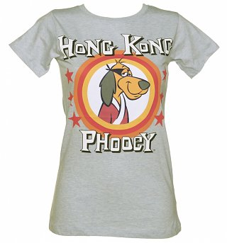 Women's Grey Marl Hong Kong Phooey T-Shirt from For Love & Money