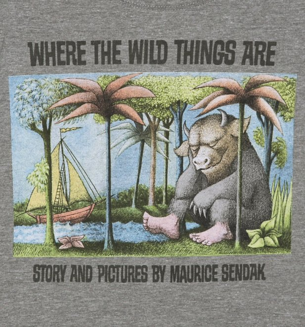 Women's Grey Marl Scoop Neck Where The Wild Things Are ...