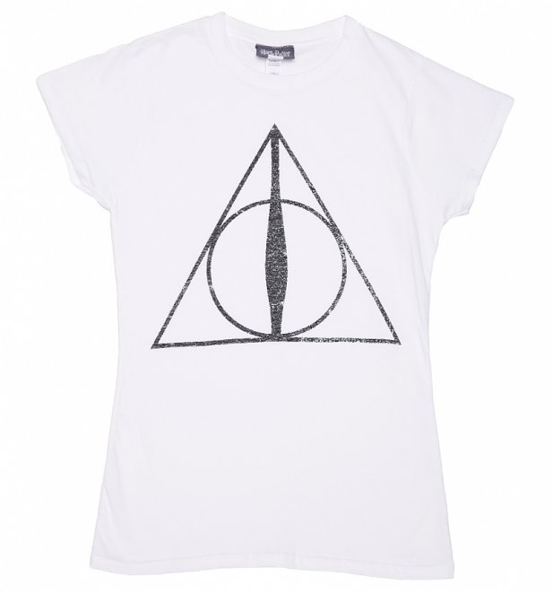 Women's Harry Potter Deathly Hallows Symbol T-Shirt