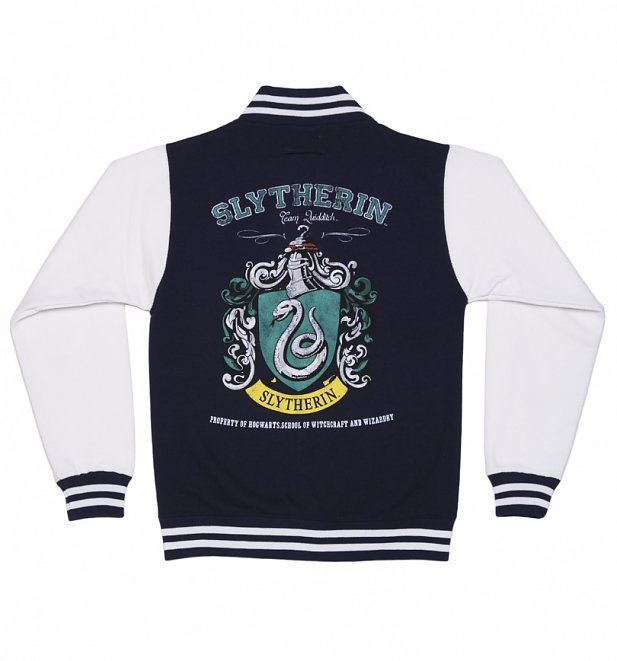 Harry Potter Book Jackets For Sale : Women s navy harry potter slytherin team quidditch varsity