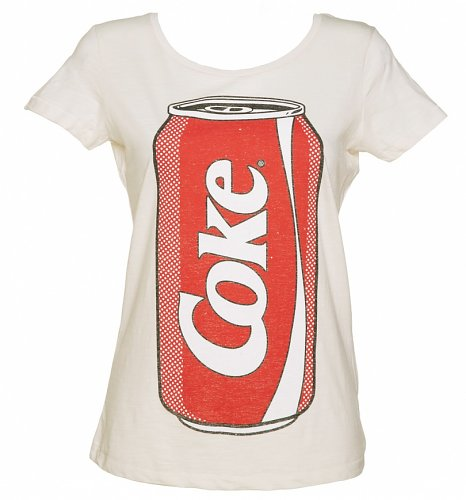 Women's Pop Art Coke Can Slub Scoop Neck T-Shirt