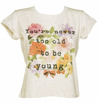 Women's Snow White Never Too Old Speckled Rolled Sleeve T-Shirt