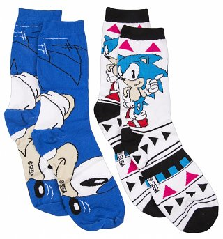 Women's Sonic The Hedgehog 2pk Socks