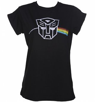 Women's Transformers Dark Side Rolled Sleeve Boyfriend T-Shirt