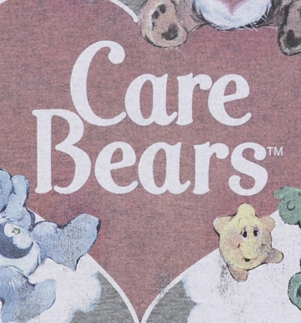 Women's Vintage Care Bears Rolled Sleeve Boyfriend T-Shirt