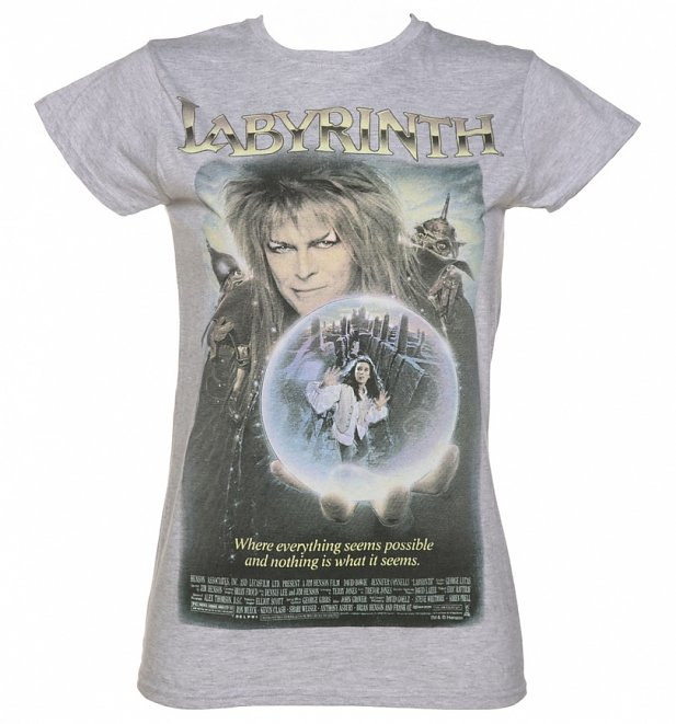 Women's Vintage Labyrinth Movie Poster T-Shirt