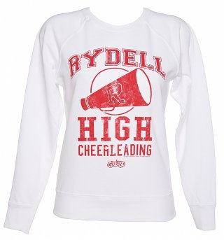 Women's White Grease Rydell High Lightweight Jumper