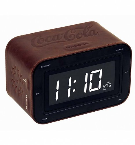 coca cola clock leather coca cola clock radio with built in speakers from bigben