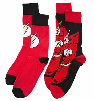 Men's 2pk DC Comics The Flash Socks