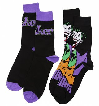 Men's 2pk DC Comics The Joker Socks
