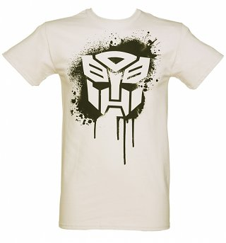Men's Autobot Transformers Stencil Heavyweight T-Shirt
