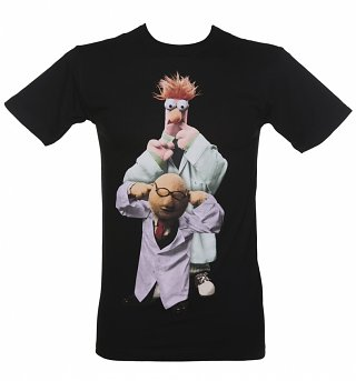 Men's Black Bunsen And Beaker T-Shirt
