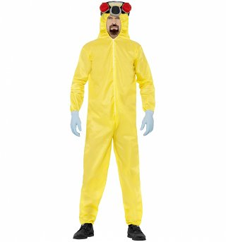 Men's Breaking Bad Cook Suit Fancy Dress Costume