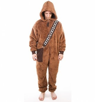 Men's Brown Chewbacca Star Wars Onesie