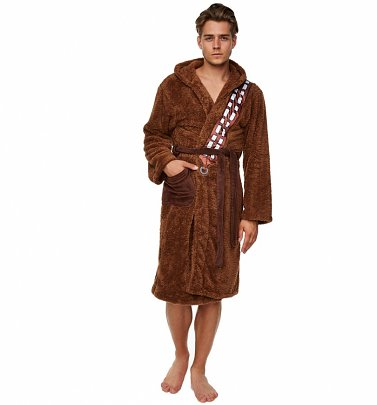 Men's Brown Fleece Chewbacca Star Wars Dressing Gown