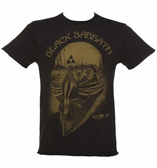 Men's Charcoal Black Sabbath 1978 US Tour T-Shirt from Amplified