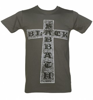 Men's Charcoal Black Sabbath Cross T-Shirt