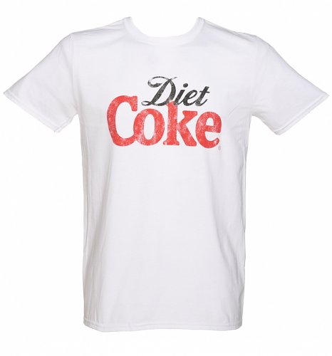 Men's White Diet Coke Logo T-Shirt