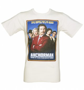 Men's Ecru Classic Poster Anchorman T-Shirt