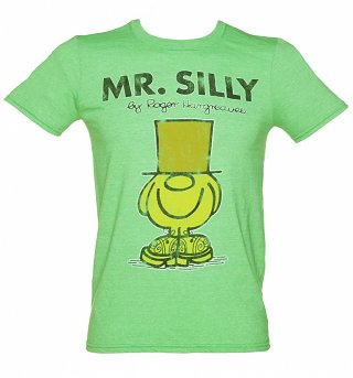 Men's Green Mr Men Mr Silly T-Shirt
