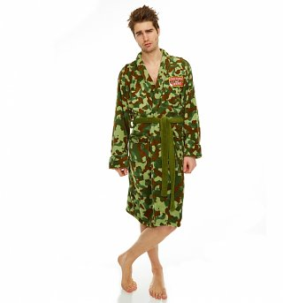 Men's Only Fools And Horses Rodney Camouflage Dressing Gown
