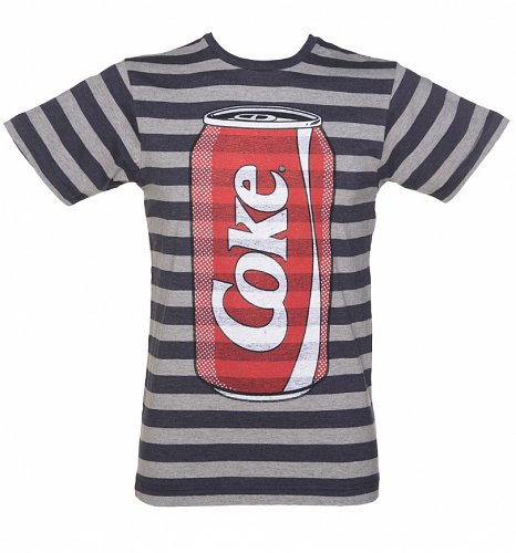 Men's Pop Art Coke Can Striped T-Shirt