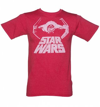 Men's Red Tie Fighter Star Wars T-Shirt