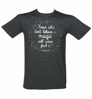 Men's Roald Dahl Believe In Magic Foil Print T-Shirt