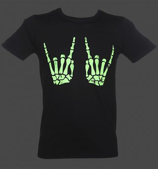 Men's Skeleton Hands Glow In The Dark T-Shirt