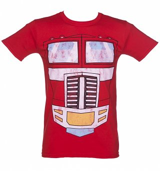 Men's Transformers Optimus Prime Body T-Shirt