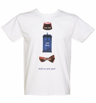 Men's White Doctor Who Poem T-Shirt