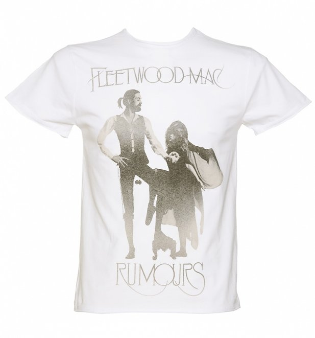 Men's White Fleetwood Mac Rumours T-Shirt from Amplified