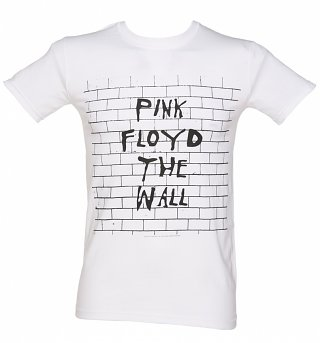Men's White Pink Floyd The Wall T-Shirt