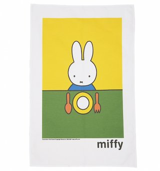 Miffy Dinnertime Tea Towel