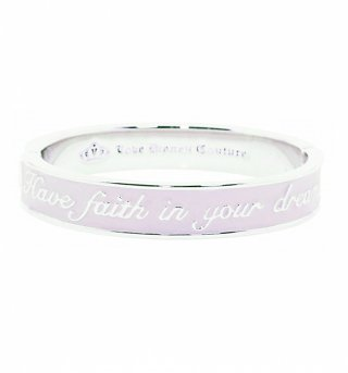 Platinum Plated Pink Enamel Have Faith In Your Dreams Cinderella Bangle from Disney Couture