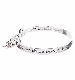 Platinum Plated Braver Than You Believe Winnie The Pooh Bangle from Disney Couture