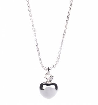 Platinum Plated Poison Apple Snow White Necklace from Disney Couture