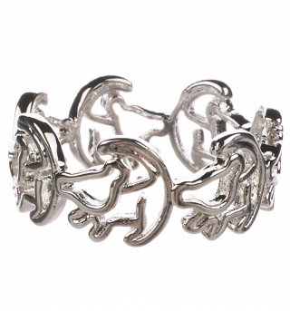 Platinum Plated Simba Outline Lion King Ring from Disney Couture
