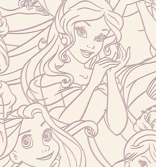 Premium Disney Princess Flock Wallpaper from Graham & Brown