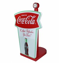 Retro Coca-Cola Fishtail Design Kitchen Roll Holder