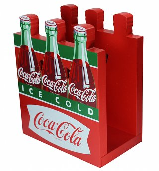 Retro Coca-Cola Six Pack Bottle Napkin Holder