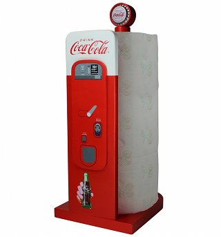 Retro Coca-Cola Vending Machine Kitchen Roll Holder
