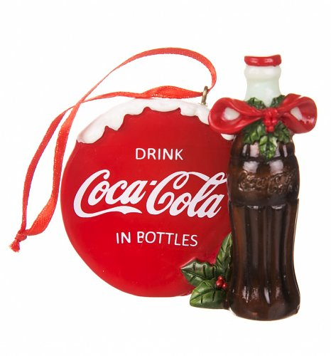 Retro Coca-Cola Sign And Bottle Hanging Ornament