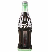 Retro Resin Coca-Cola Contour Bottle Thermometer