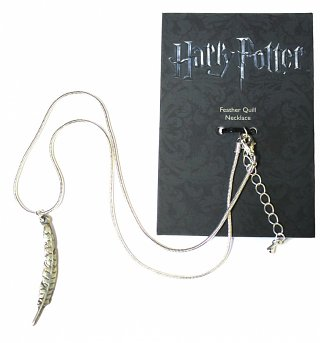 Silver Plated Harry Potter Feather Quill Necklace