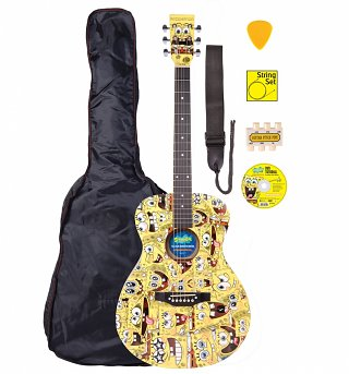 SpongeBob SquarePants Full Size Acoustic Guitar Set