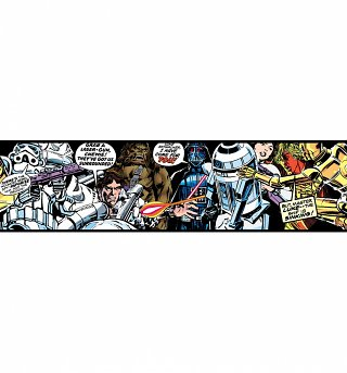 Star Wars Cartoon Wallpaper Border 15.6cm x 5m from Graham & Brown